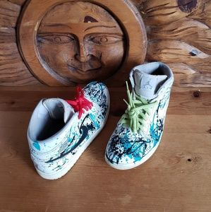 Nike Air Jordan 1Mid Basketball Sneaker Customized